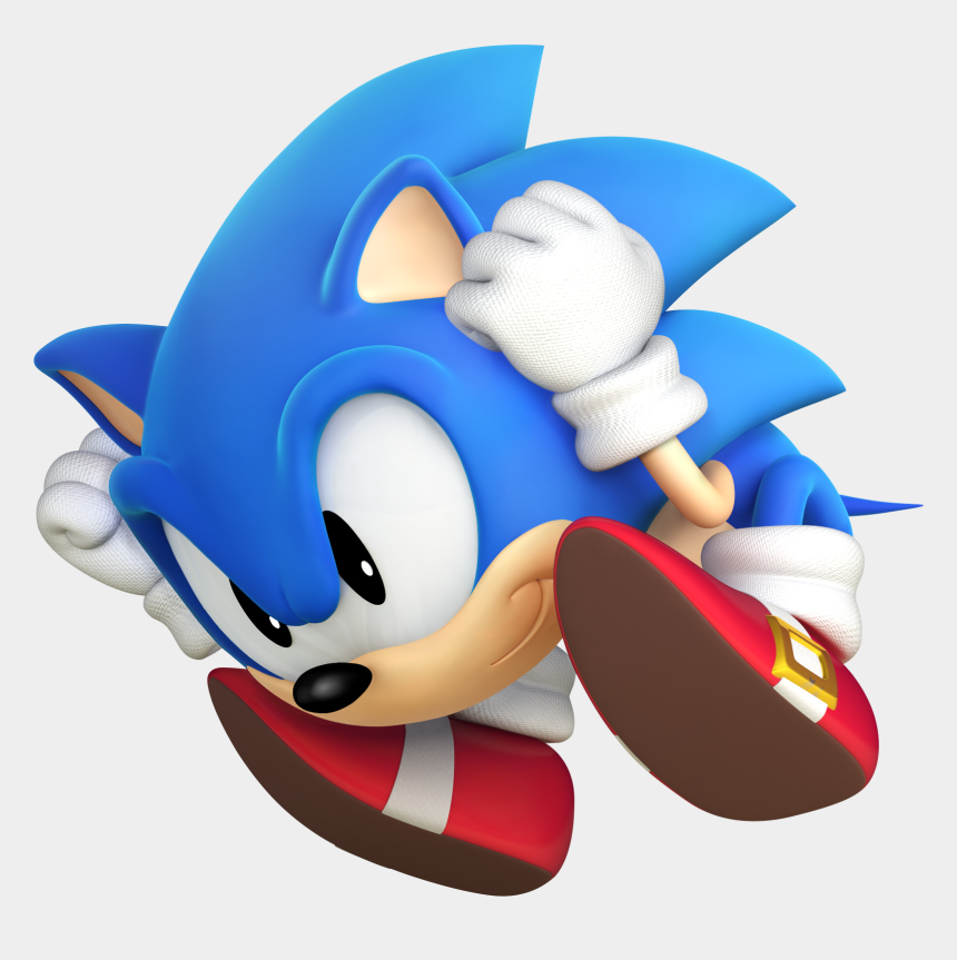 Classic Sonic Performing The Spin Attack Sonic The Hedgehog Ball