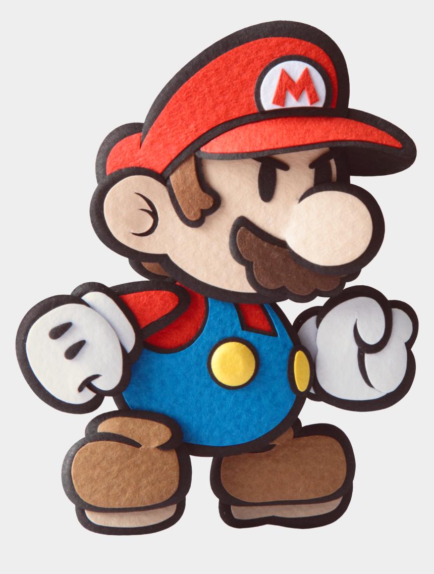 serious clipart, Cartoons - Paper Mario Sticker Star Render