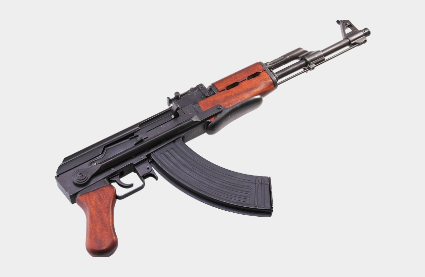 tattoo gun clipart, Cartoons - Gun Shot Clipart Draco - Ak 47 Transparent Background
