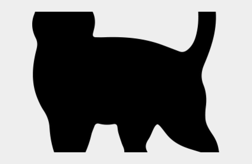 dog and cat silhouettes clipart, Cartoons - Cat Silhouette