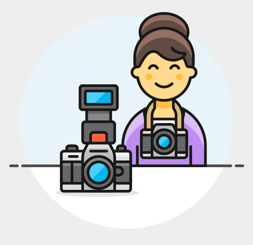 female photographer clipart, Cartoons - 23 Photographer Female Asian - Cartoon