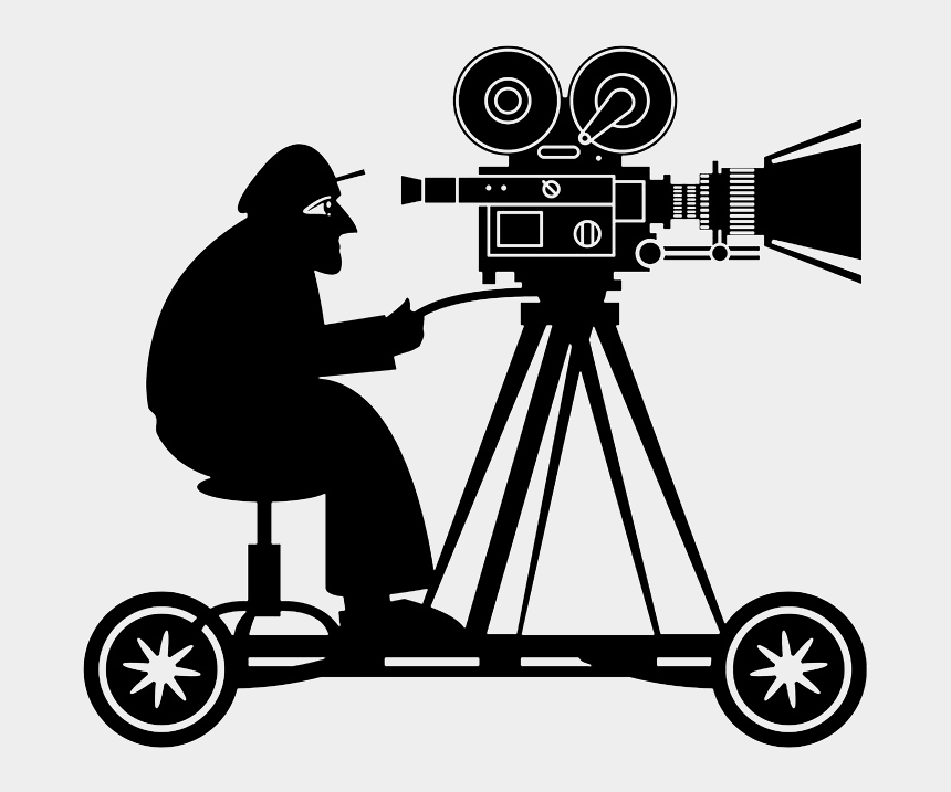 female photographer clipart, Cartoons - And We Ar Cameraman - Director Of Photography Silhouette