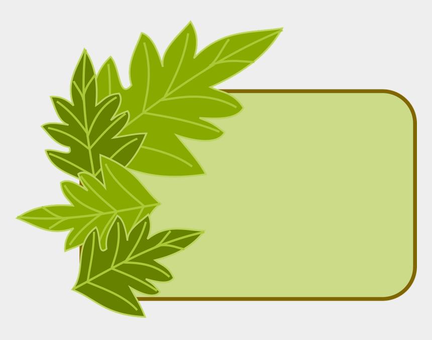 herbal clipart, Cartoons - Herbs Clipart Leafy Border - Green Frame Border Transparent