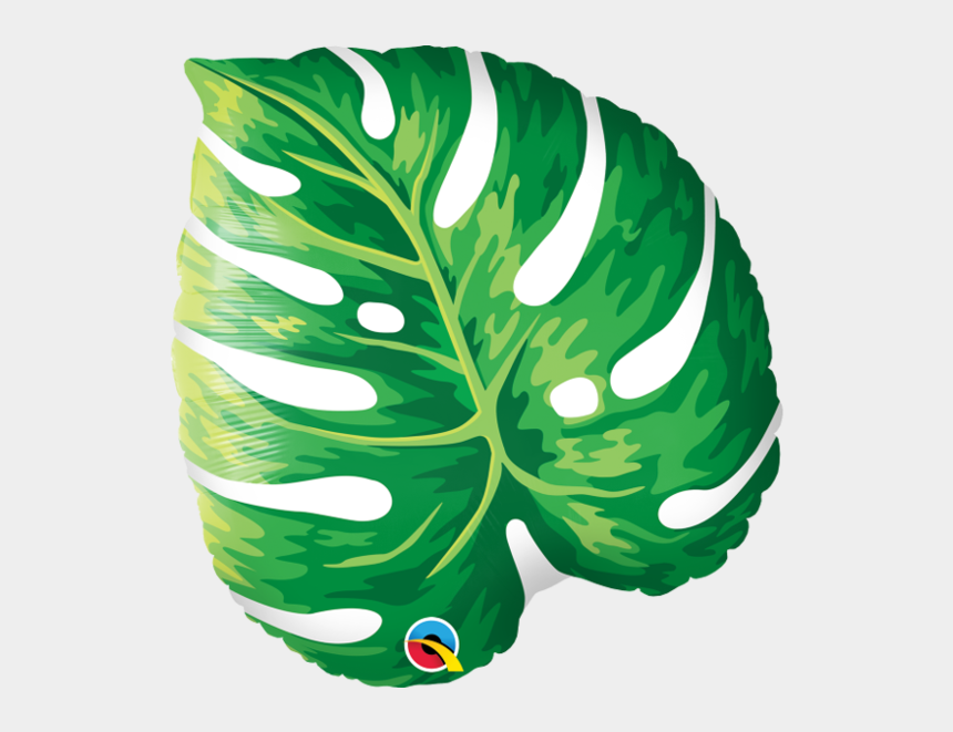 """leaf blower clipart, Cartoons - 21"""" Palm Leaf Mylar Balloon - Tropical Leaf Foil Balloon"""
