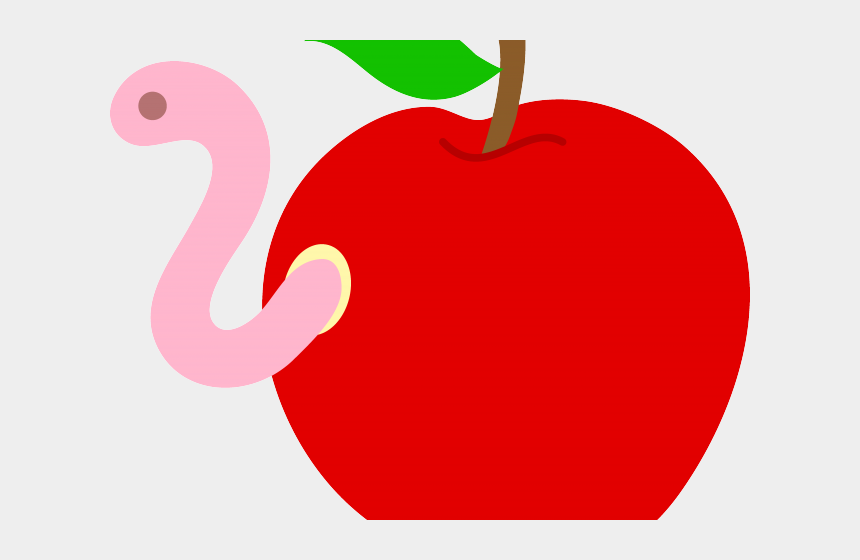picking apples clipart, Cartoons - Free Apple Clipart - Apple With Worm Inside