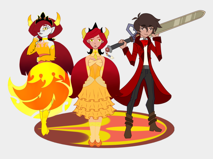 good vs evil clipart, Cartoons - Star Butterfly, Starco, Star Vs The Forces Of Evil, - Svtfoe Hekapoo And Marco Family Fanfiction