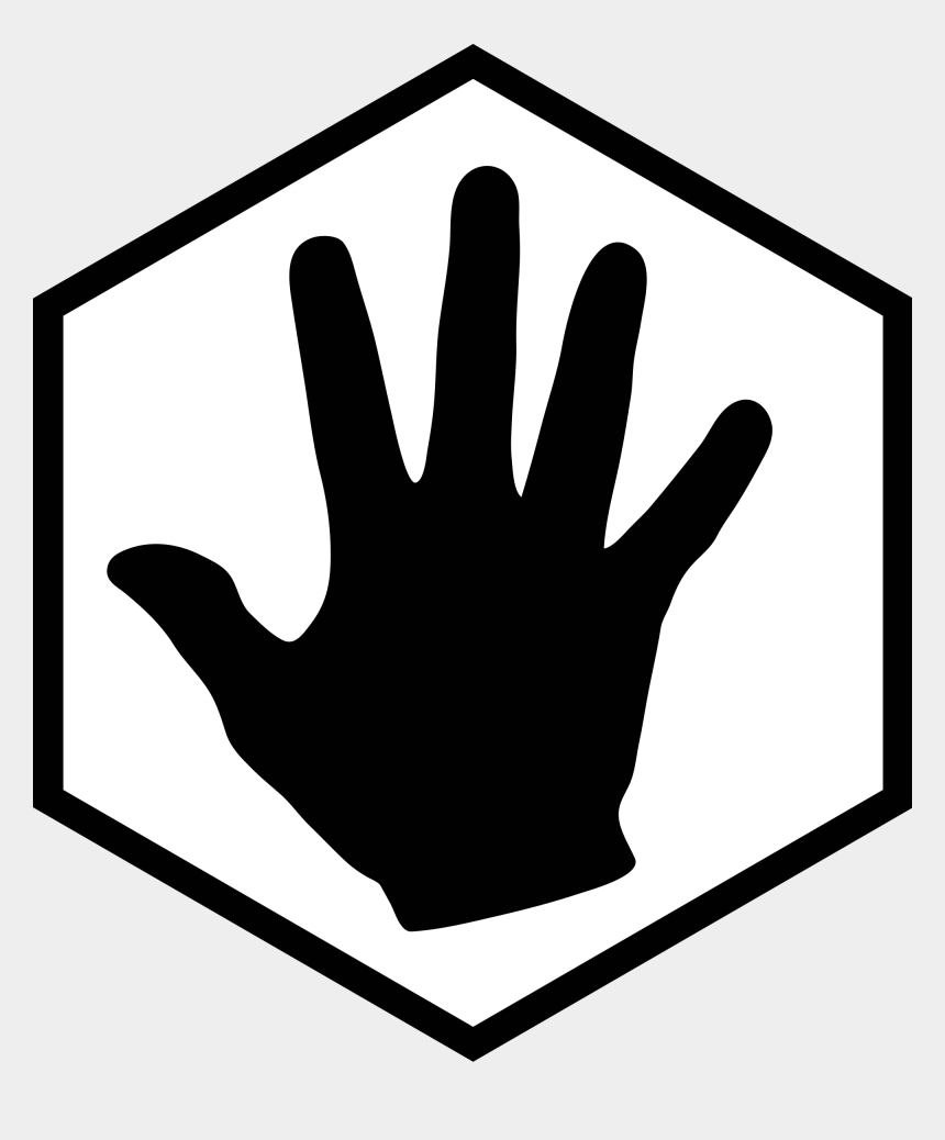 open hand clipart, Cartoons - File Hex Icon With White Svg Wikimedia Ⓒ - Hexagon Png