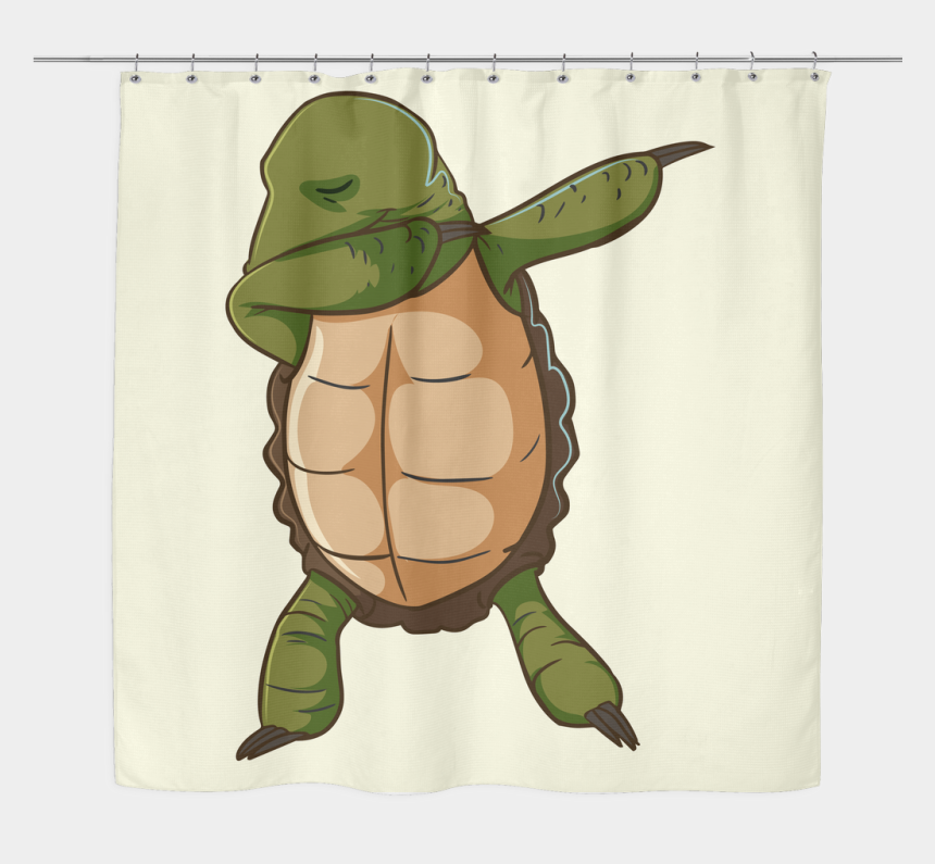 baby shower turtle clipart, Cartoons - Dabbing Turtle Shower Curtain, Gifts For Tortoise Lovers - Green Sea Turtle