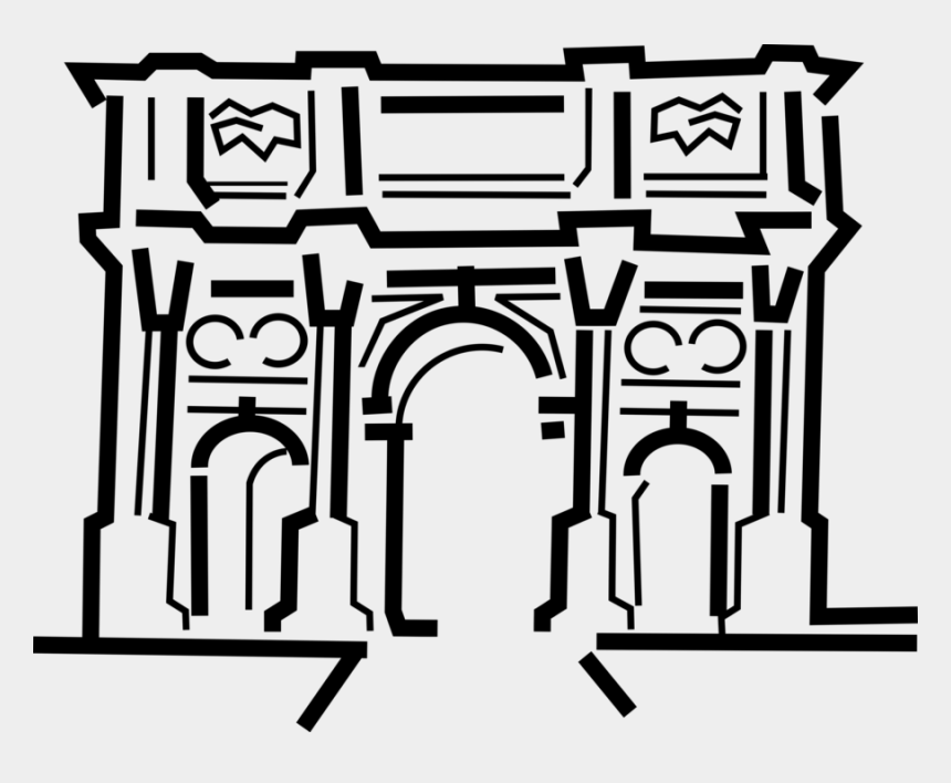 arc de triomphe clipart, Cartoons - More In Same Style Group - Arc De Triomphe Clipart Png