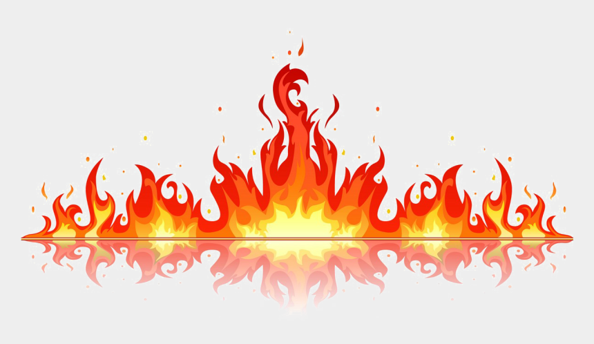fire flames clipart, Cartoons - Flame Background Png - Fire Vector Png
