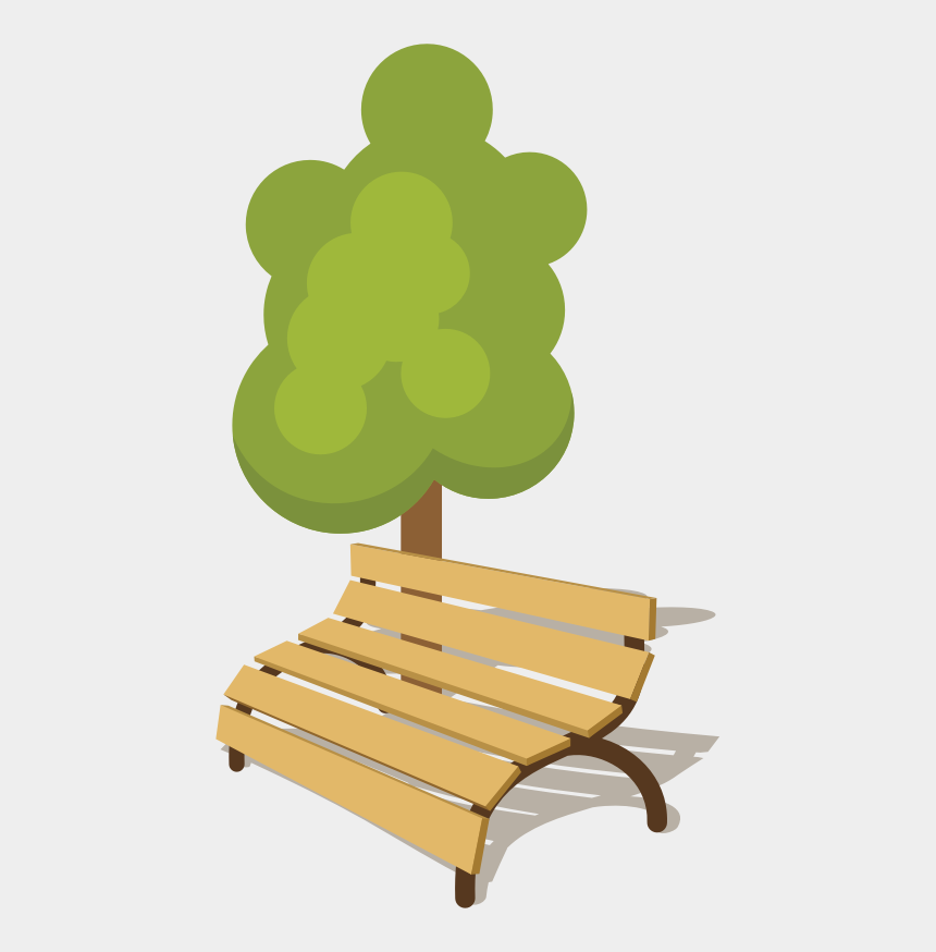park bench clipart, Cartoons - Bench Table Drawing Park - Park With Bench Clip Art