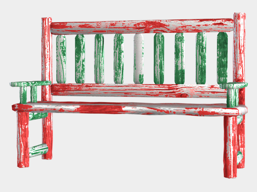 park bench clipart, Cartoons - Bench Clipart - Christmas Bench Png