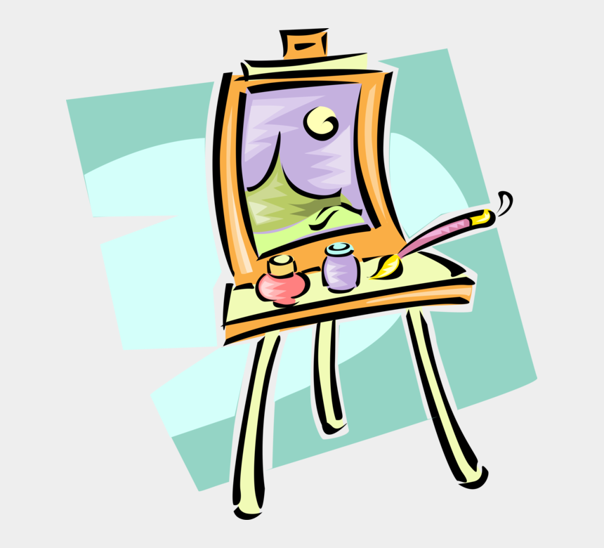 painting easel clipart, Cartoons - Vector Illustration Of Visual Arts Artist's Easel For - Arts And Crafts Clip Art