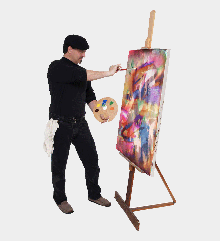 painting easel clipart, Cartoons - Like The Impressionists Then, Some Artists Today Use - Artist Painting On Canvas
