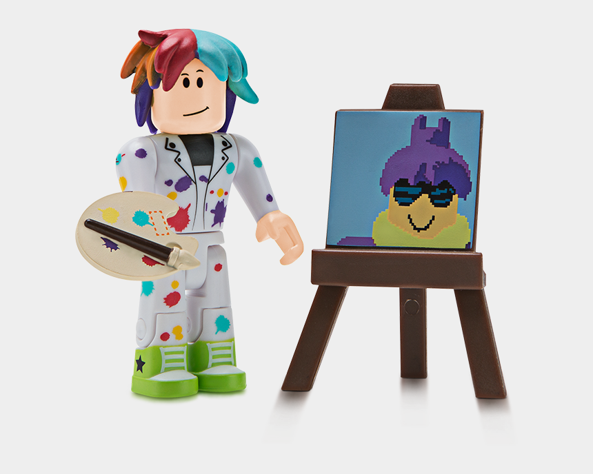 painting easel clipart, Cartoons - Pixel Artist Roblox Toy