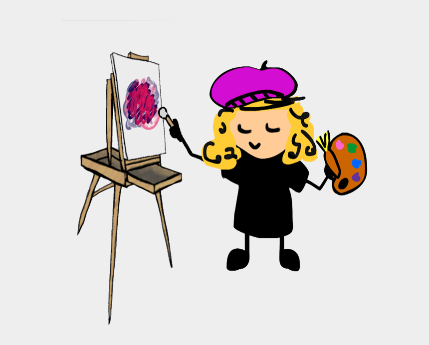 painting easel clipart, Cartoons - Oil Painting For Beginners 4 - Color Scheme Definition