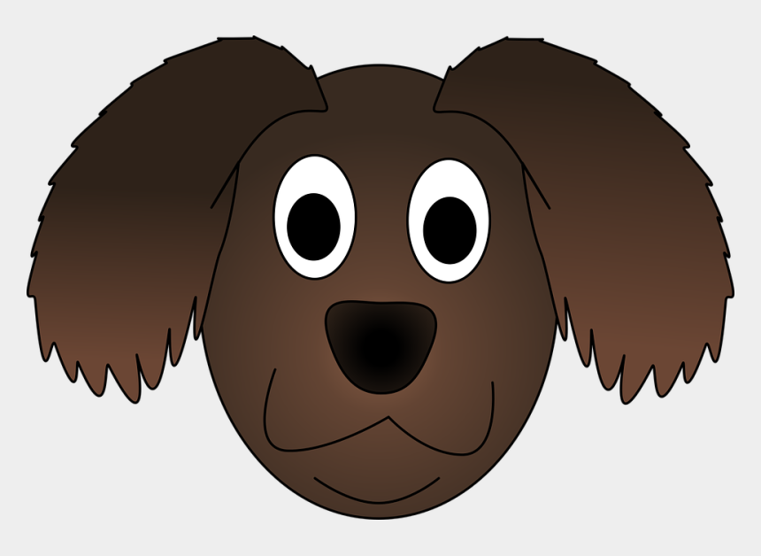 cute dog face clipart, Cartoons - Dog Pup Animal Canine Brown Pet Happy Adorable - Cartoon Dog Head Png