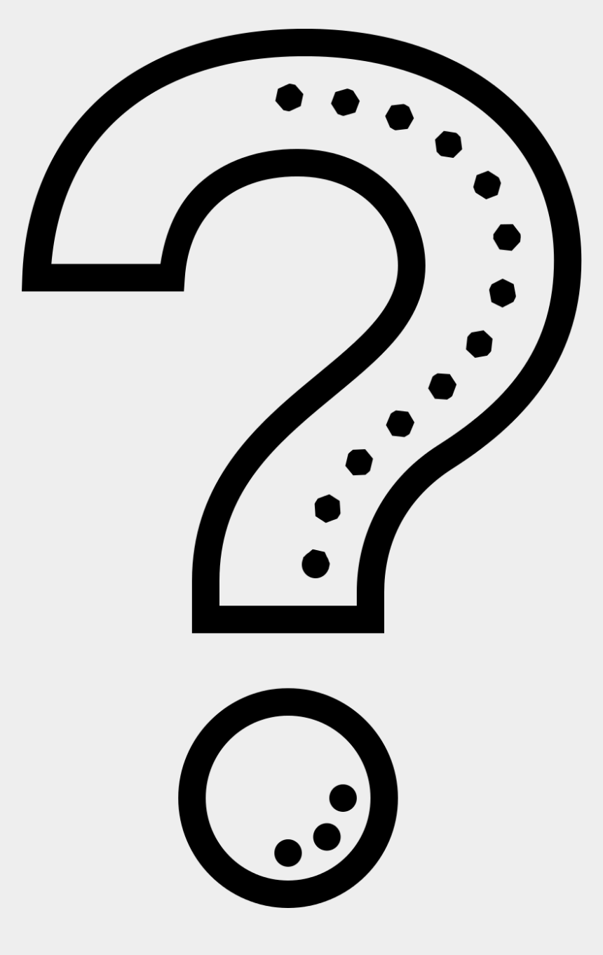 black and white question mark clipart, Cartoons - Bite Mark Png - Black And White Png Question Mark