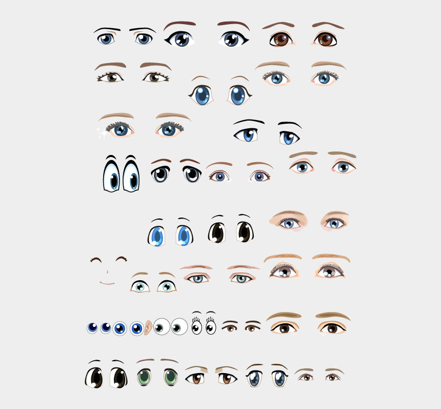 emotional clipart, Cartoons - Emotional Expressions Various Eyes Png File Hd - Draw A Doll Face