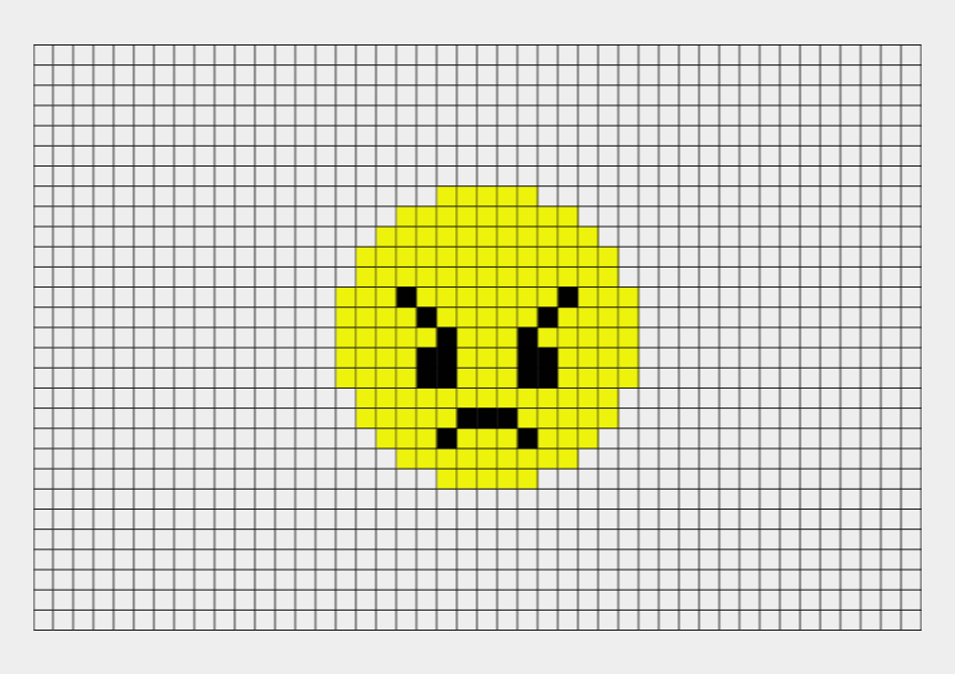 Mad Face Emoji Png Small Pixel Art Grid Cliparts