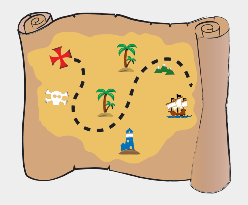 pirates hat clipart, Cartoons - Pirate Map Png - Cartoon Pirate Treasure Map