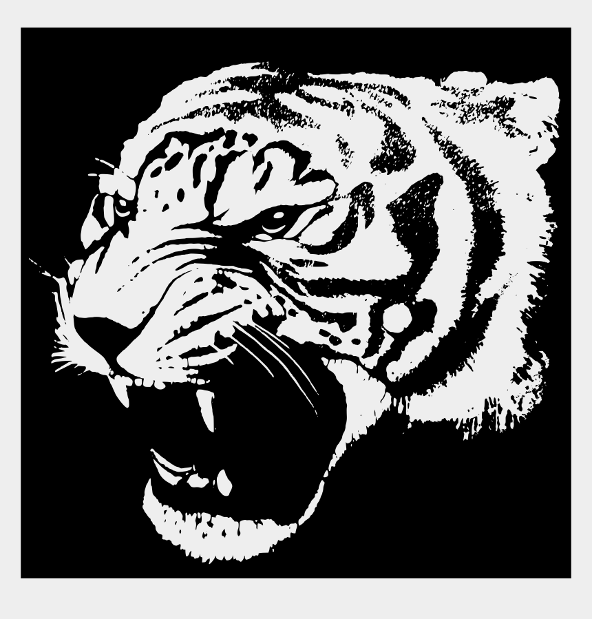black and white tiger clipart, Cartoons - Black And White Animal Free Images Clipartblack Ⓒ - Tiger Tshirt