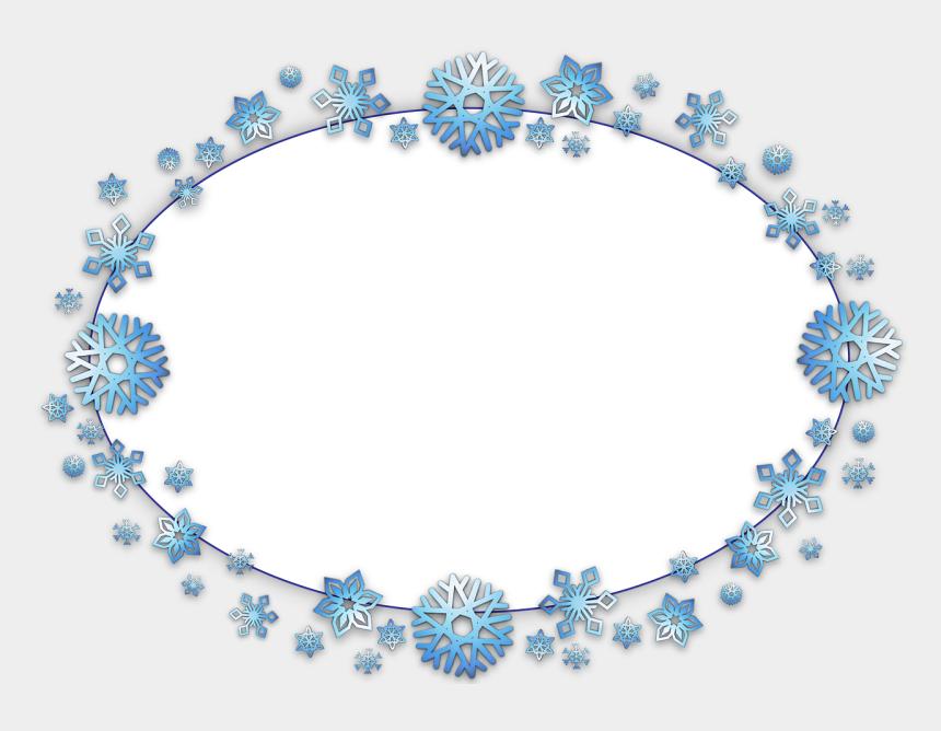 snowflakes border clipart, Cartoons - Frame, Border, Oval, Card, Xmas, Christmas, Snow, Flake - Frame & Border Oval