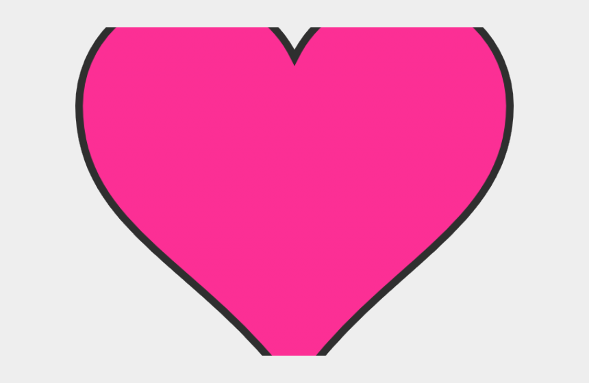heart shaped clipart, Cartoons - Heart Shaped Clipart Dark Pink - Clipart Pink Hearts