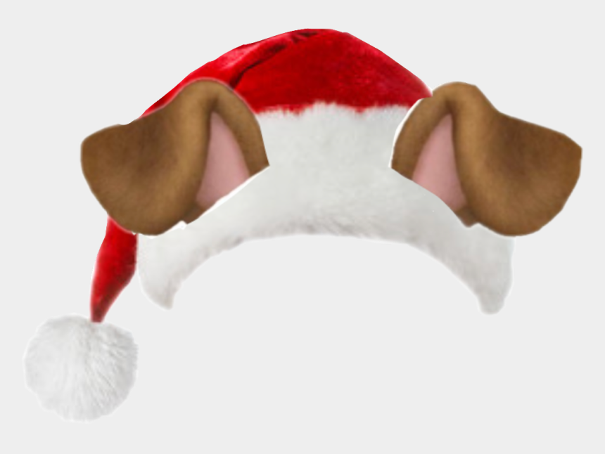 dog ears clipart, Cartoons - #santa #santareal #snapchat #christmas #dog #ears - Christmas