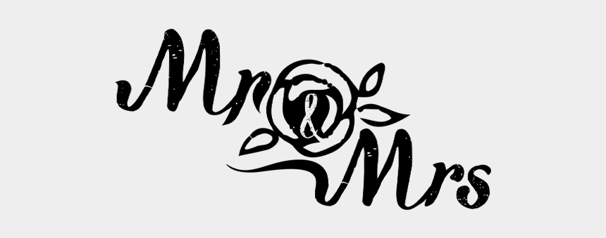 mr & mrs clipart, Cartoons - And Mrs - Calligraphy