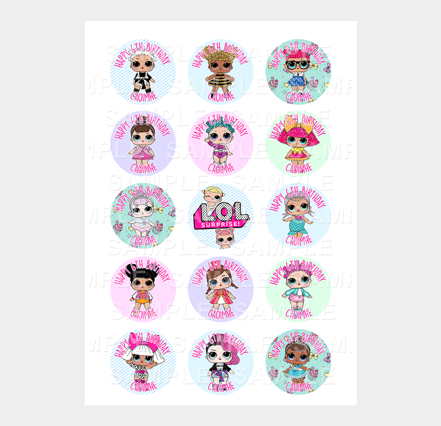 lol clipart, Cartoons - Lol Doll - Lol Cupcake Toppers Free Printable