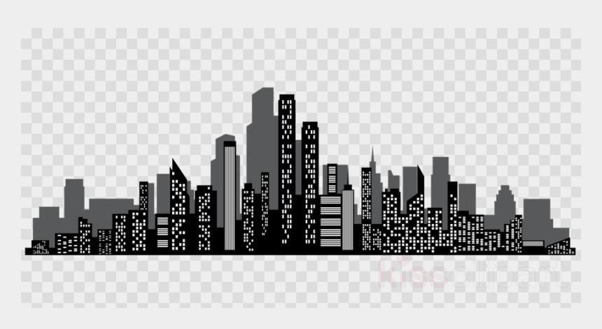 las vegas skyline clipart, Cartoons - Silhouette Cityscape Clipart Cityscape Skyline Clip - Transparent Background Wow Png