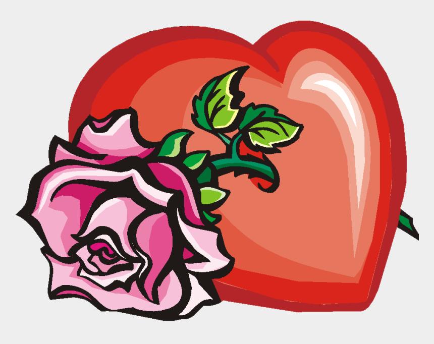 handmade clipart, Cartoons - Handmade Love & Marriage Cards - Heart With A Rose Through