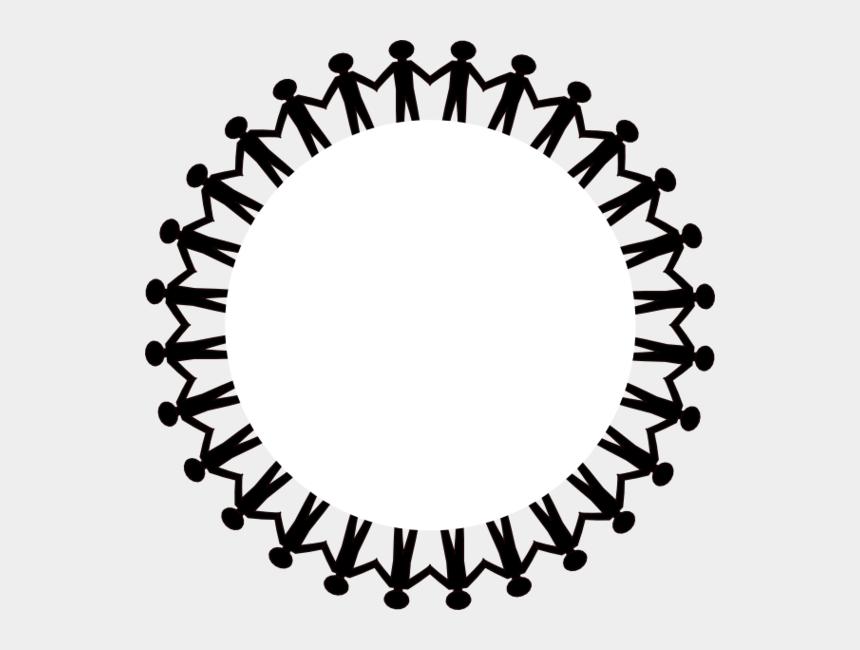 circle border clipart, Cartoons - Clipart Circle Borders - People Holding Hands Circle