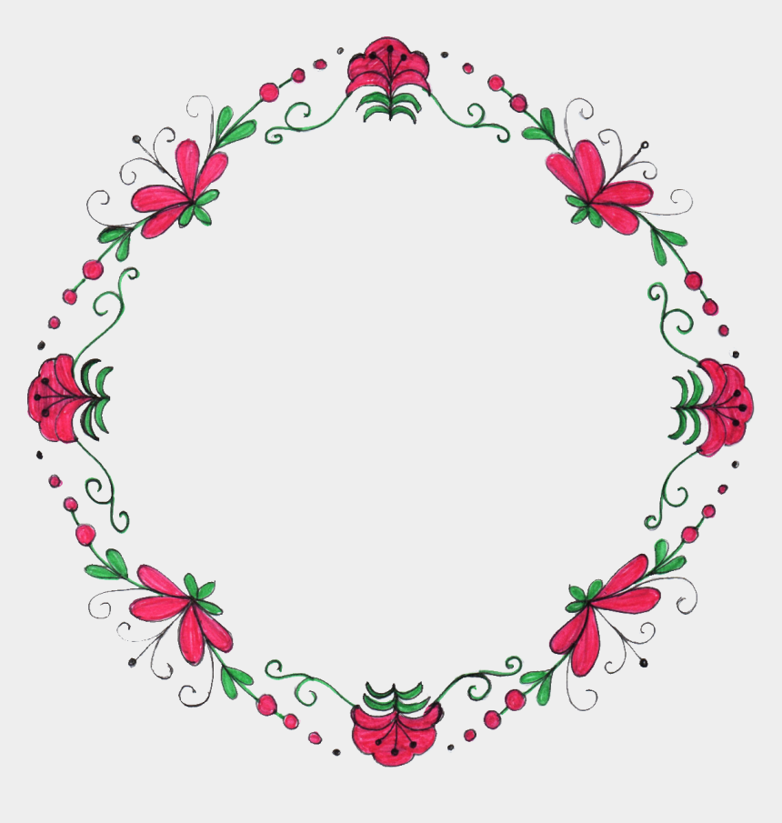 Floral Circle Png Free Floral Border Circle Cliparts Cartoons