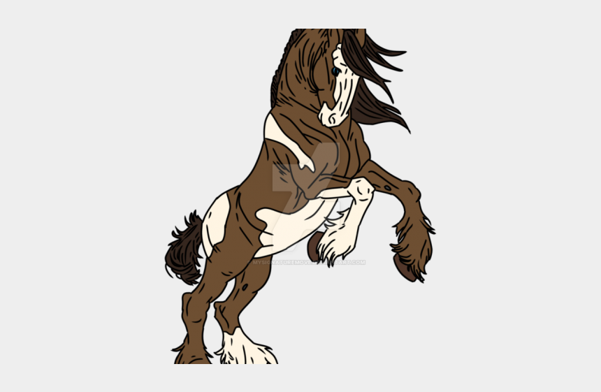 rosemary clipart, Cartoons - Clydesdale Clipart Simple Horse - Draw A Clydesdale Rearing