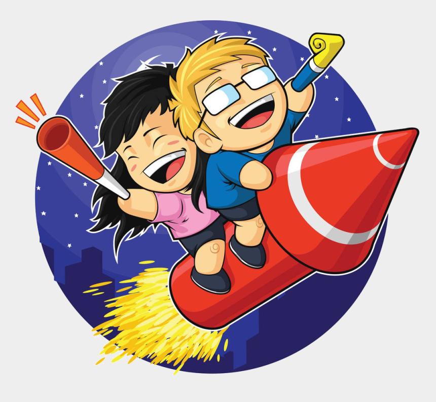 firecracker clipart, Cartoons - Cartoon Fireworks Clip Art The Man On Ⓒ - New Year Fireworks Cartoon