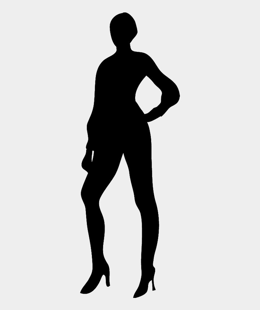 man standing clipart, Cartoons - Slender Female Silhouette - People Silhouette Without Background