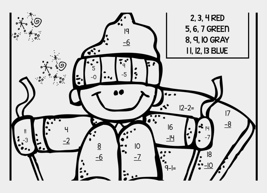2nd Grade Coloring Pages Math Fall Fraction Christmas - Math ...
