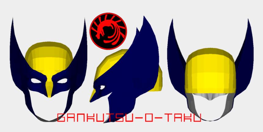 wolverine clipart, Cartoons - Mascara Wolverine Png - Wolverine Mask Pepakura