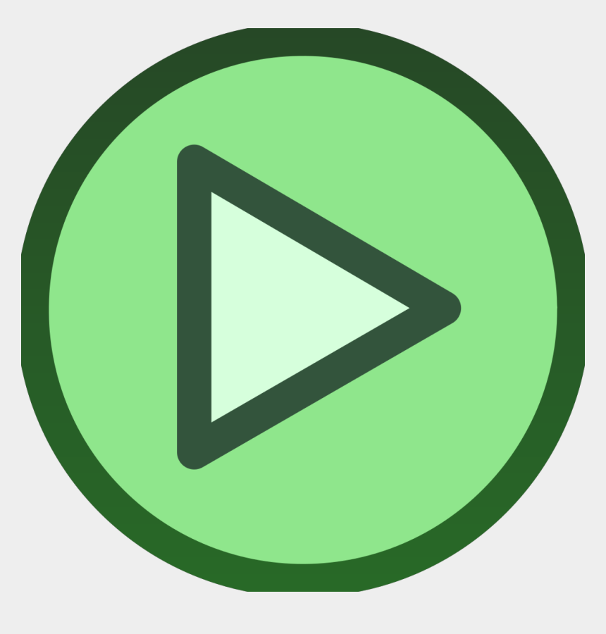 play button clipart, Cartoons - Green Plain Play Button Icon Svg Clip Arts 600 X 599 - Play Button Green Png