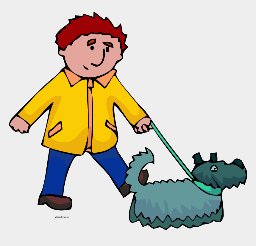 man walking clipart, Cartoons - Man And Dog Walking Clipart Png - Man Walking Dog Clipart