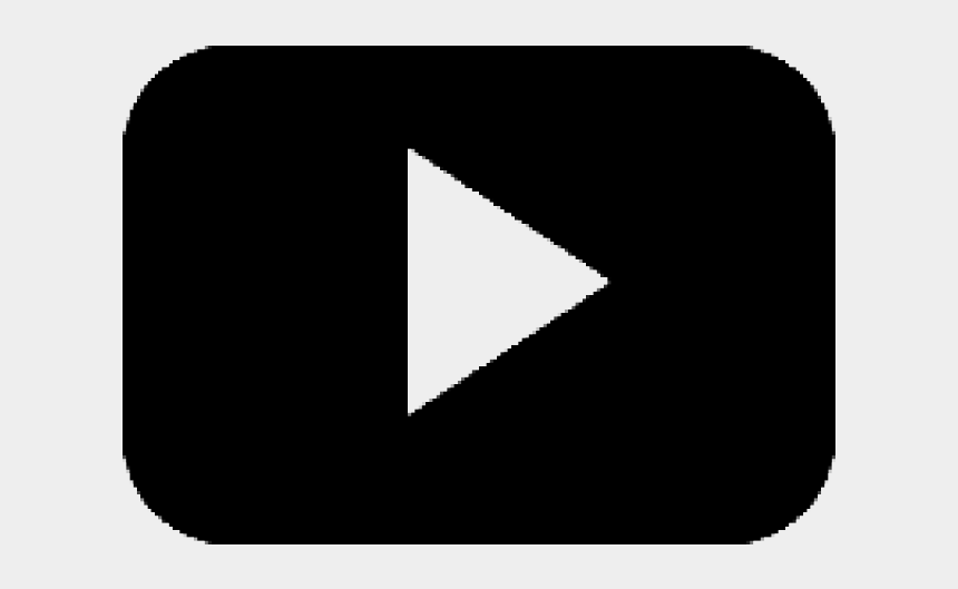 play button clipart, Cartoons - Play Button Clipart Black - Black Youtube Icon Png