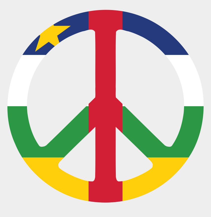 republic clipart, Cartoons - Central African Republic Peace Symbol Flag 3 Scallywag - Symbols Of Central Africa