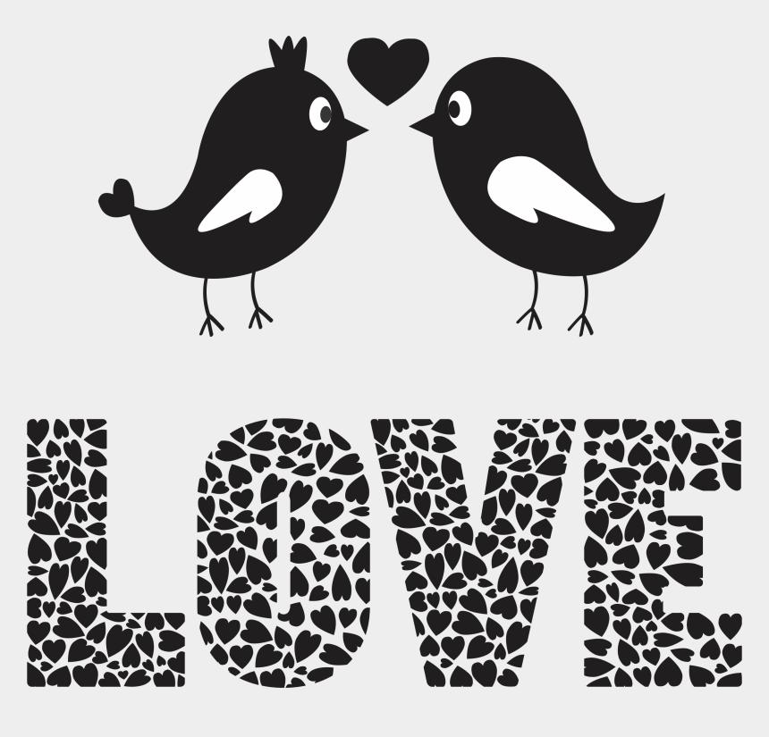 Love Birds Png Transparent Images - Love Birds Black And