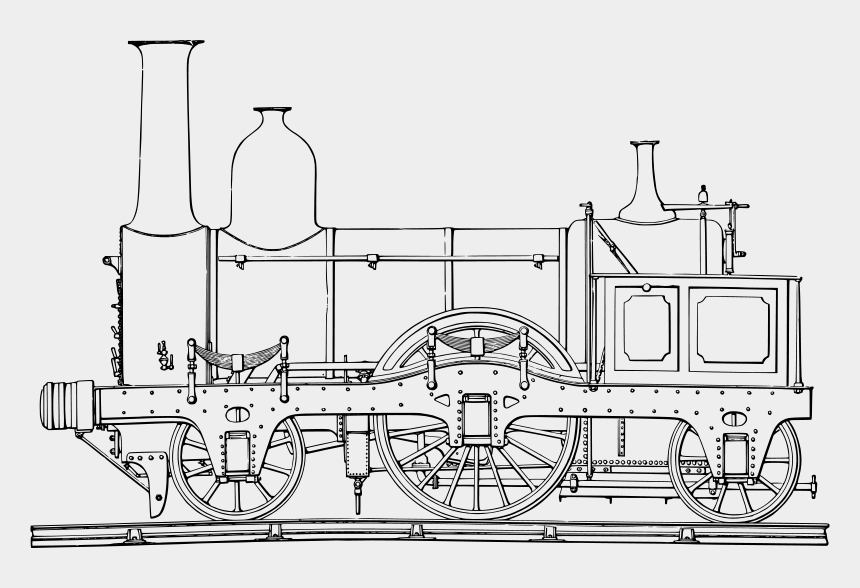 steam locomotive clipart, Cartoons - Steam Train Colouring Pages