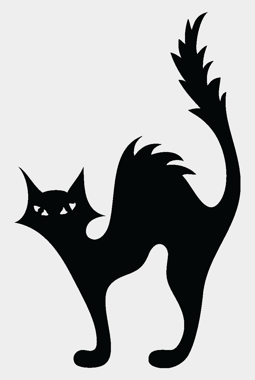 pour clipart, Cartoons - Stickers Muraux Pour Wc - Cat Halloween Template
