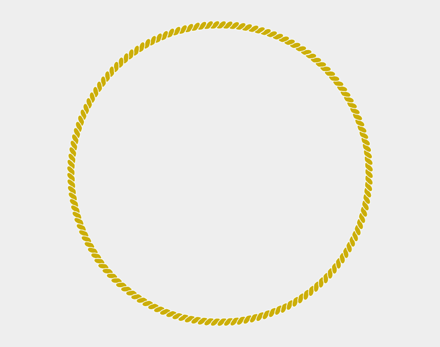rope border clipart, Cartoons - Gold Rope Circle Png