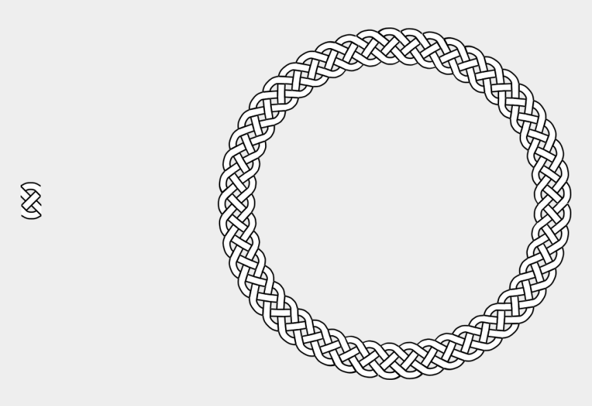 rope border clipart, Cartoons - Border Braid Frame Plait Rope Circle - Celtic Knot Circle Png