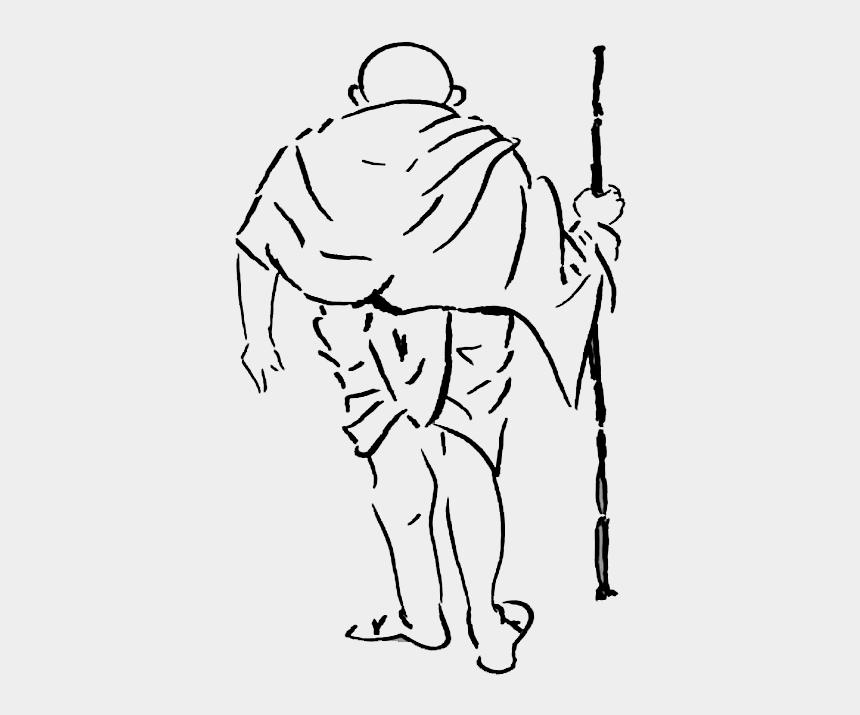 gandhi clipart, Cartoons - How To Draw Mahatma Gandhi - Mahatma Gandhi Drawing Easy